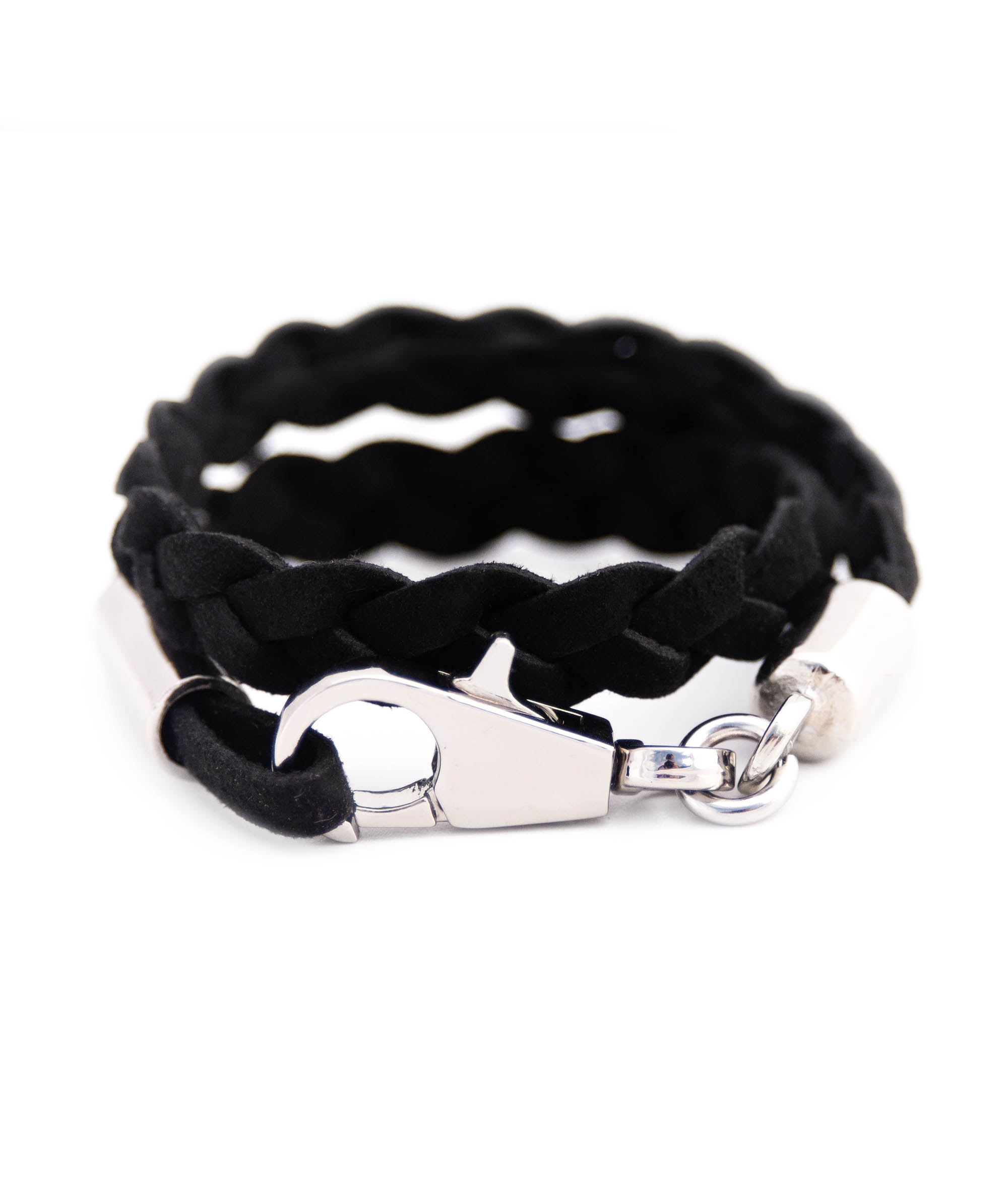 hires of en eu london venture bracelet leather links mens black