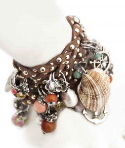 Brown Braided Bracelet Detail