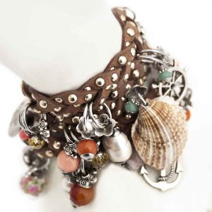 Brown Braided Bracelet Detail