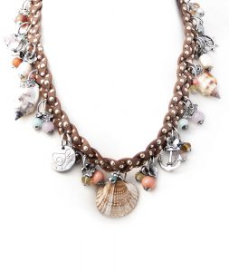 Brown Braided Necklace