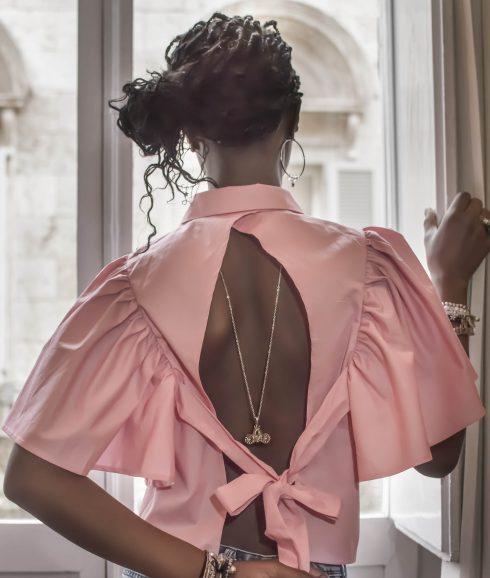 Cinderella Carriage Necklace wear