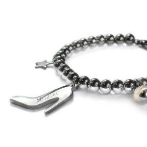 Cinderella slipper bracelet detail