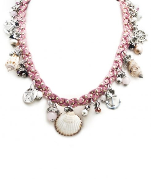 Pink Braided Necklace