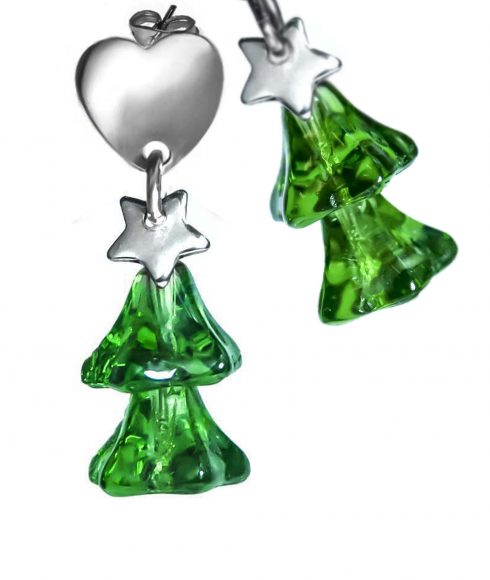Christmas Tree Earrings Detail