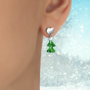 Christmas Tree Earrings Wear