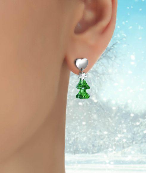 Christmas Tree Earrings Wear