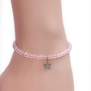 Pink Crystal Bangle Wear