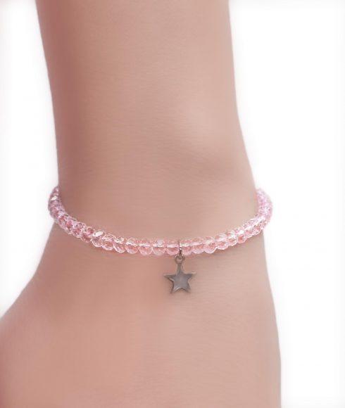 Pink Crystal Bangle Wear