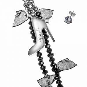 Black Cinderella Earrings Detail