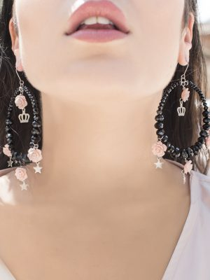 Giulietta short hoop Earrings wear