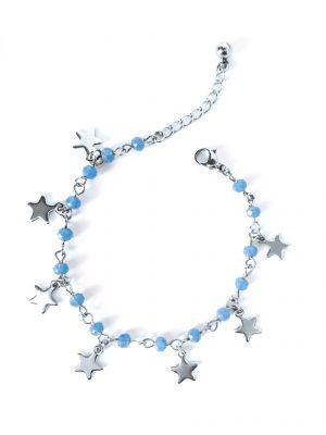 Cyan Crystal Star Bracelet