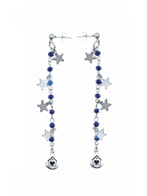 Blue Star Earrings