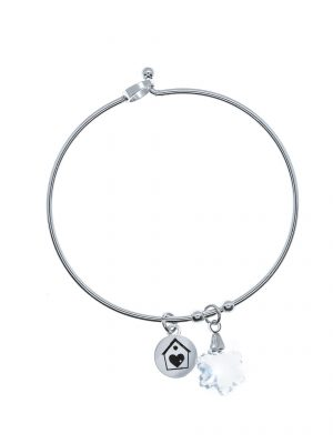 Bracciale Bangle Cristallo di Neve